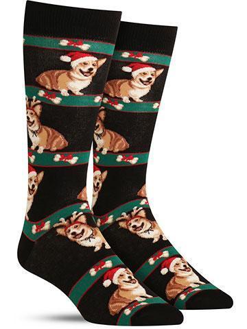 Corgi Christmas Socks | Men's