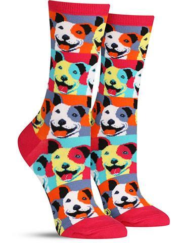 Pop Art Pitbull Socks | Women's
