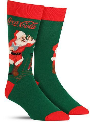 Men's Classic Coke Santa Socks