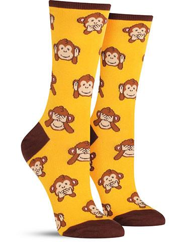 Monkey-No Evil Socks