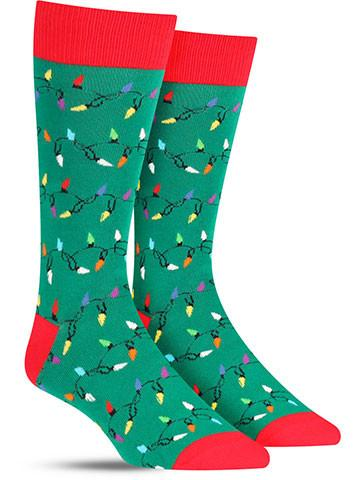 Christmas Lights Socks | Men's