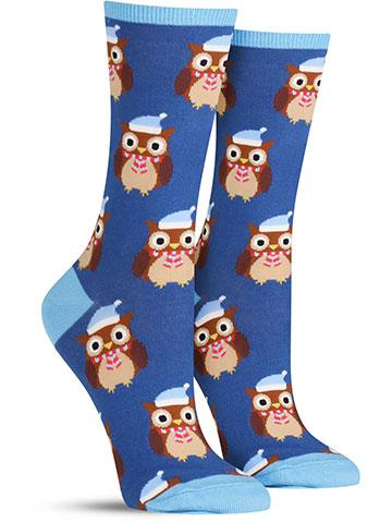 Owl Ready for Winter Socks | Women's