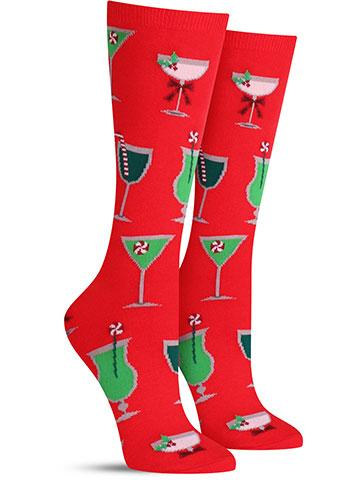 Christmas Cocktails Socks