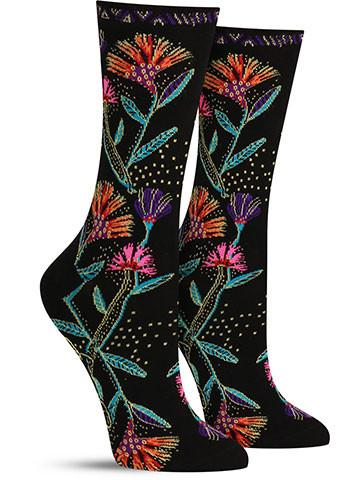 Laurel Burch Wildflowers Socks