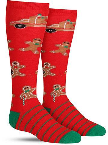 Break a Leg Christmas Knee High Socks