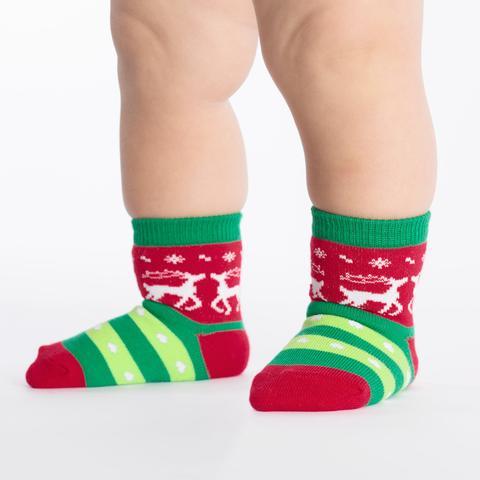 Tacky Holiday Sweater Socks (Toddler)