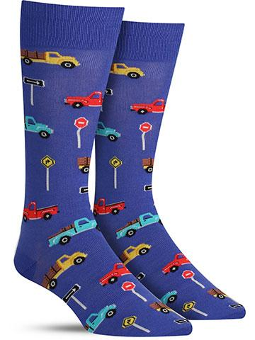 Men's Pick Up Trucks Socks | On Sale for $8