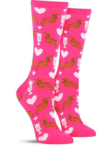 Women's Dogs & Milkshake Socks
