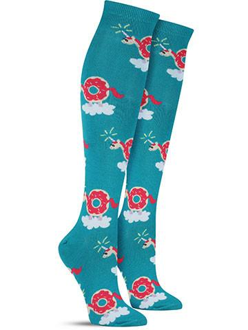 Women's Donuticorn Knee High Socks