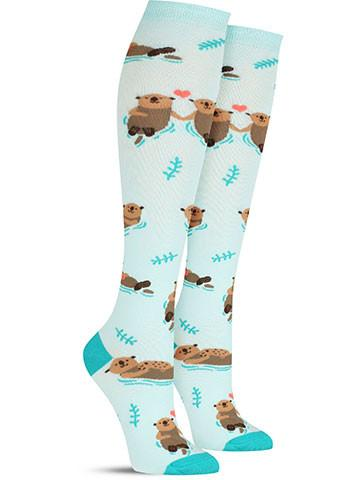 Women's My Otter Half Knee High Socks