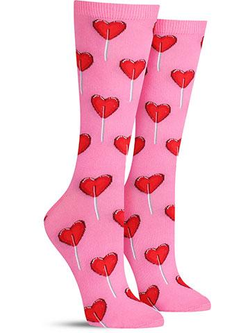 Women's Heart Lollipop Socks