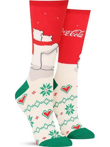 Women's Red White and You Coca-Cola Socks
