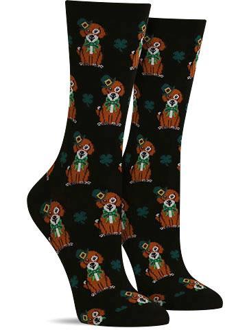 St. Patrick's Day Dog Socks