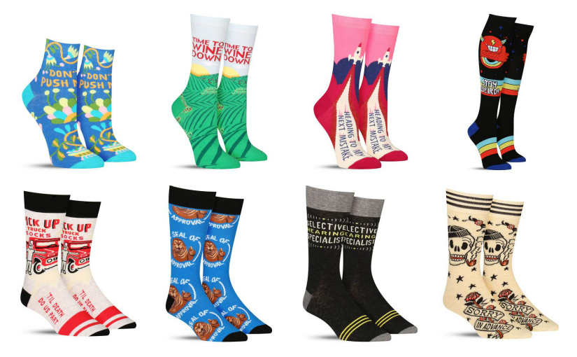 Make a Statement in New Word Socks