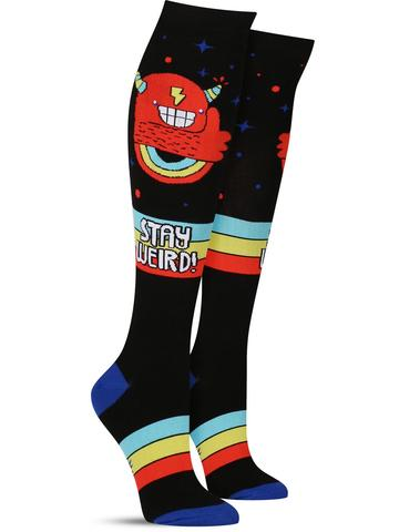 Stay Weird! Knee High Socks - Wide Calf