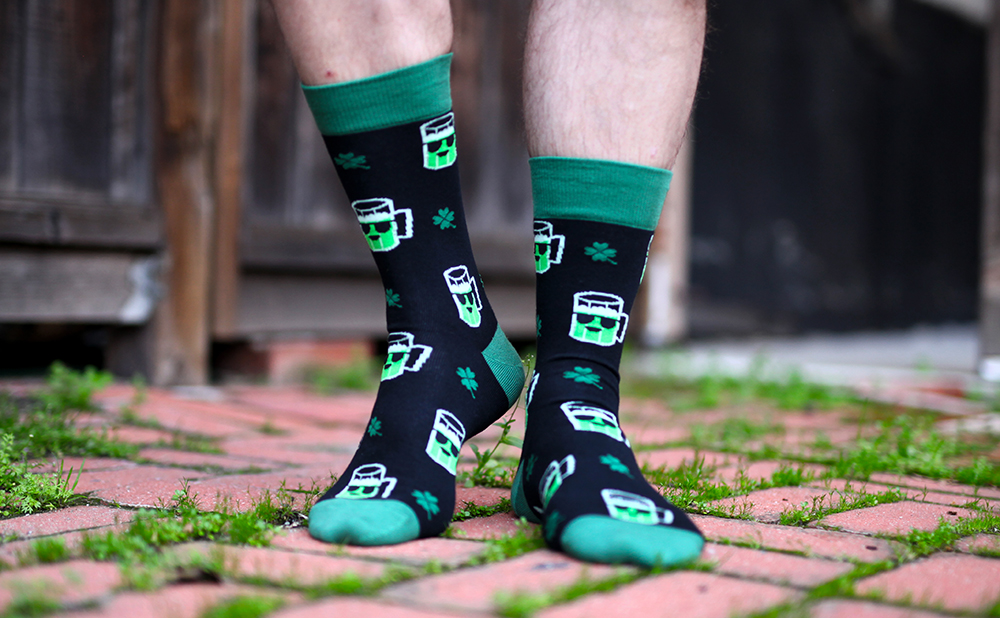 Get Your Green on in St. Patrick's Day Socks