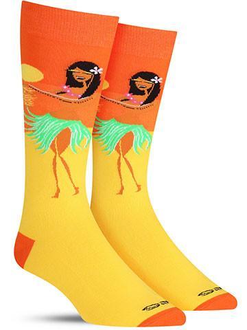 Men's Shag Tiki Hula Socks