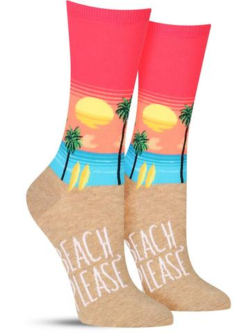 Women's Beach Please Socks