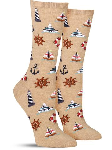 Women's Nautical Icons Socks