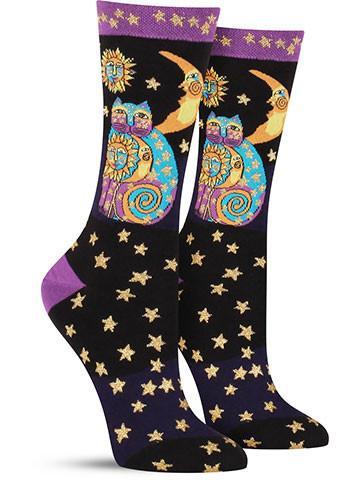 Laurel Burch Celestial Cat Socks