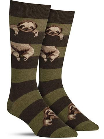 Men's Sloth Stripe Socks
