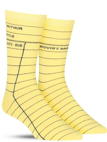 Men's Library Card Socks