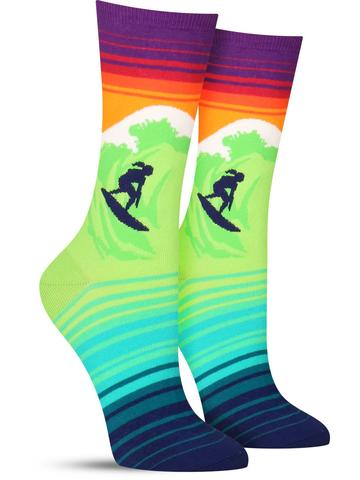 Women's Catch a Wave Socks