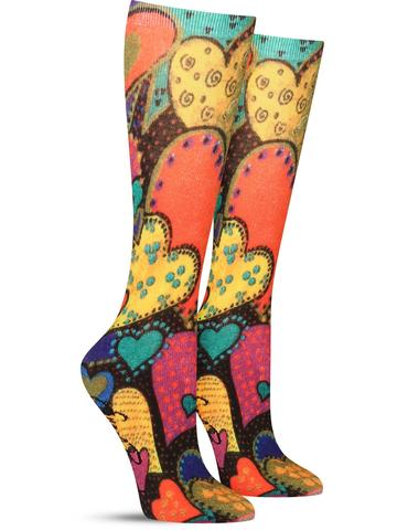 Laurel Burch Hearts Socks
