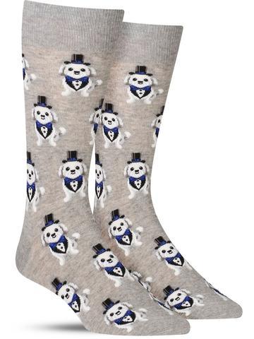 Tuxedo Dog Socks