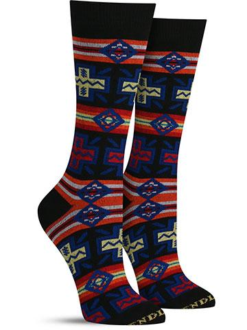 Women's Pueblo Cross Socks