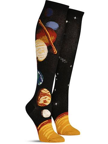 Solar System Knee High Socks