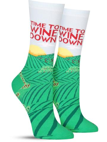 Wine Down Socks