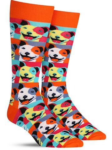 Pop Art Pitbull Socks