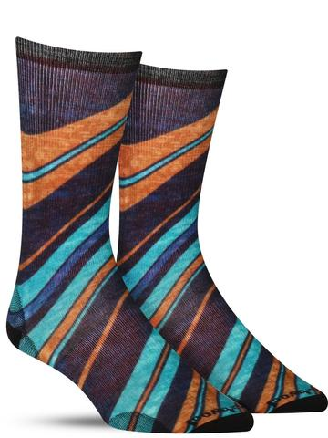 Men's Waves Wool Socks