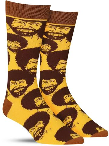 Men's Bob Ross Flash Mob Socks