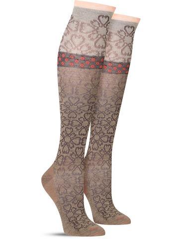 Botanical Compression Knee High Socks