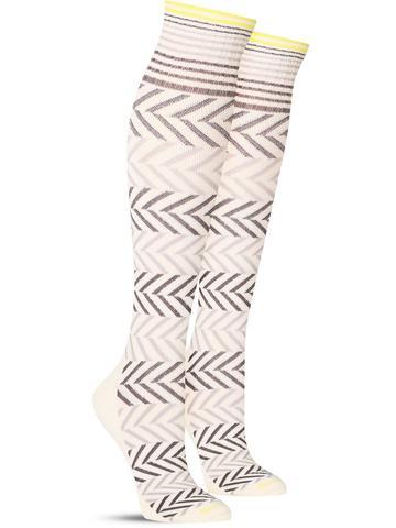 Chevron Compression Knee High Socks