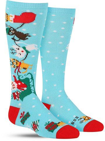 Jingle Cats Christmas Knee High Socks