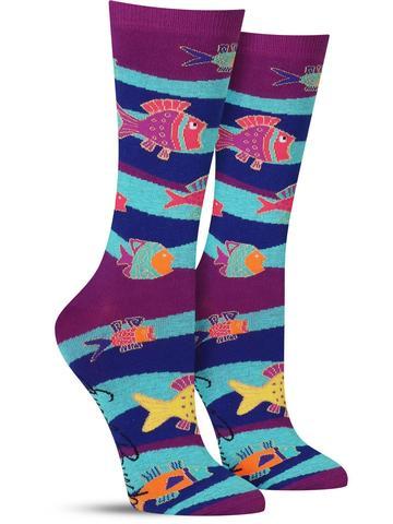 Laurel Burch Fish and Waves Socks
