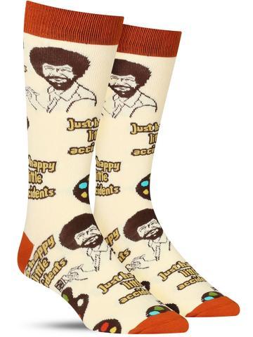 Bob Ross Happy Lil Accidents Socks