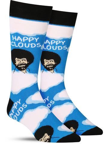 Bob Ross Happy Clouds Socks