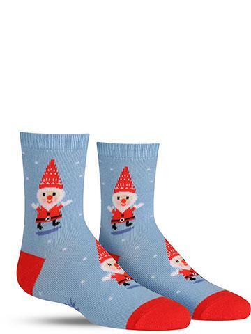 Santa Gnome Christmas Socks
