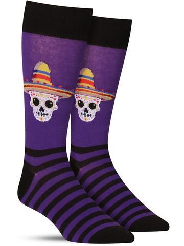Sombrero Sugar Skull Socks