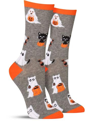 Cat and Dog Ghosts Socks