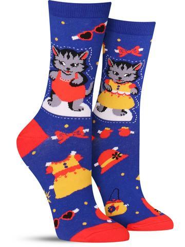 Dress Up Meow Socks