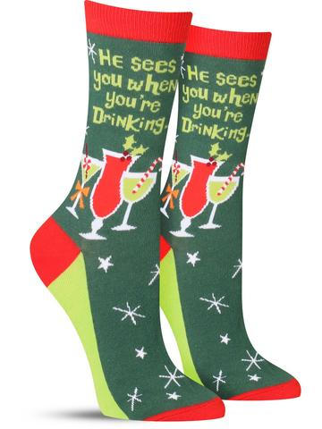 Women's Santa Knows Socks