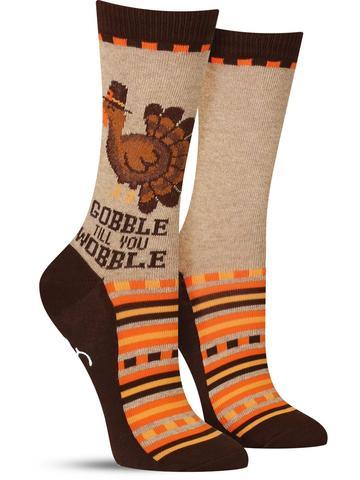 Women's Gobble Till You Wobble Non-Skid Socks