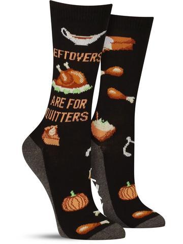 Women's Leftovers Are for Quitters Non-Skid Socks