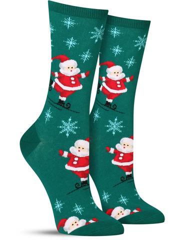 Women's Skating Santas Socks