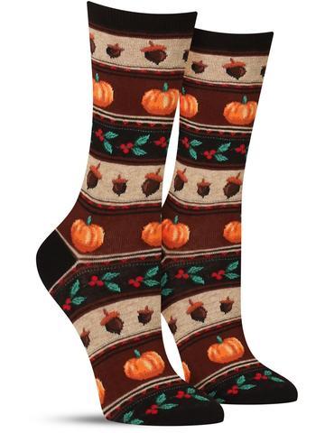 Women's Thanksgiving Fairisle Socks
